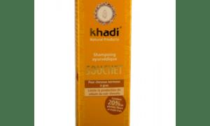 Shampoing ayurvédique souchet pour cheveux normaux à gras – KHADI