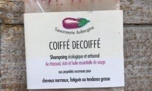 shampoing coiffe decoiffe savonnerie aubergine